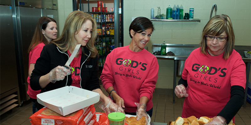 Image for Serve Lunch with God's Girls at Louisville Rescue Mission – WEDNESDAYS, 10 a.m.-noon.