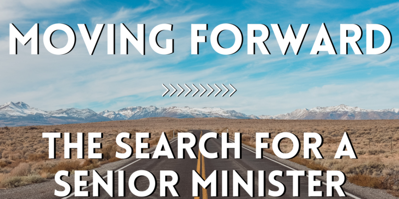 Image for Moving Forward: The Search for a Senior Minister