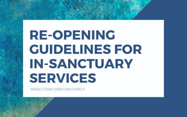 photo for Re-Opening Guidelines for In-Sanctuary Services
