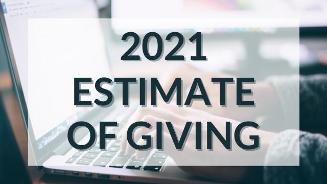 Estimate of Giving Button 2021