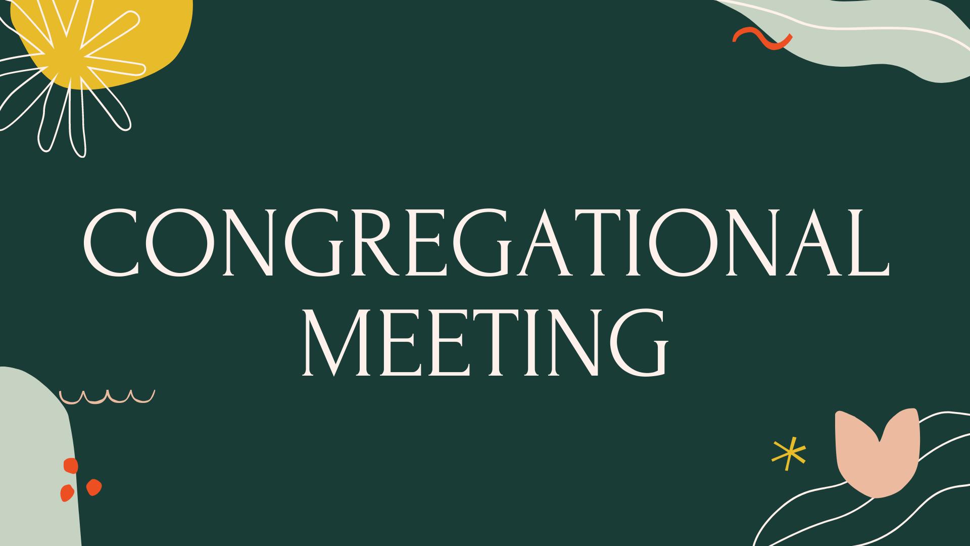 Virtual Congregational Meeting - Middletown Christian Church